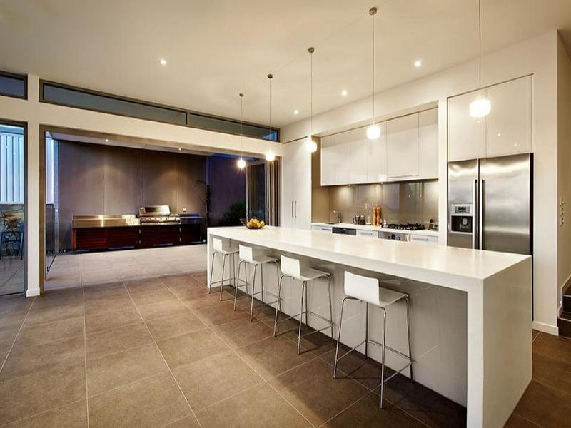 Modern u shaped kitchen design using tiles kitchen photo for U shaped kitchen designs