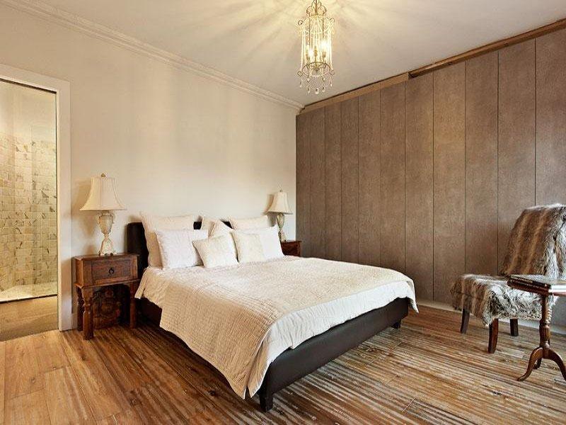 Country Bedroom Design Idea With Floorboards Built In