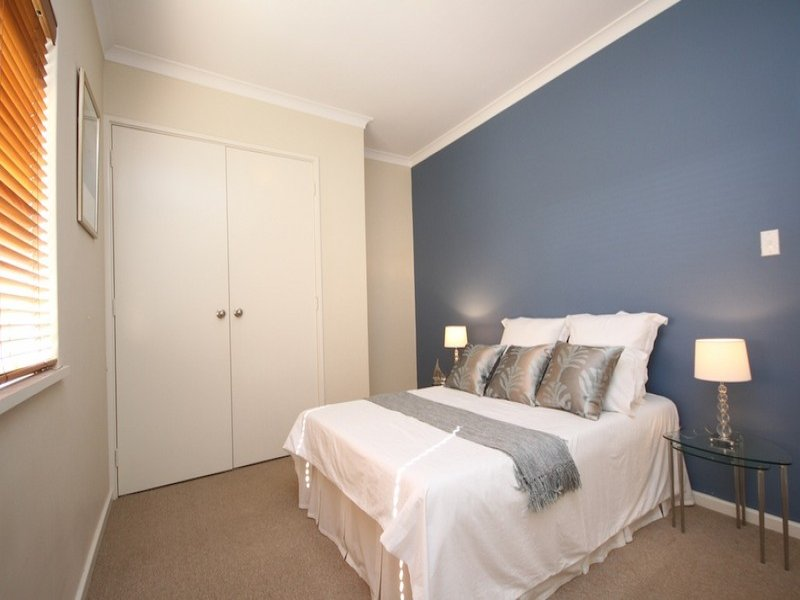 Country bedroom design idea with carpet built in wardrobe using blue colours bedroom photo - Feature bedroom wall ideas ...