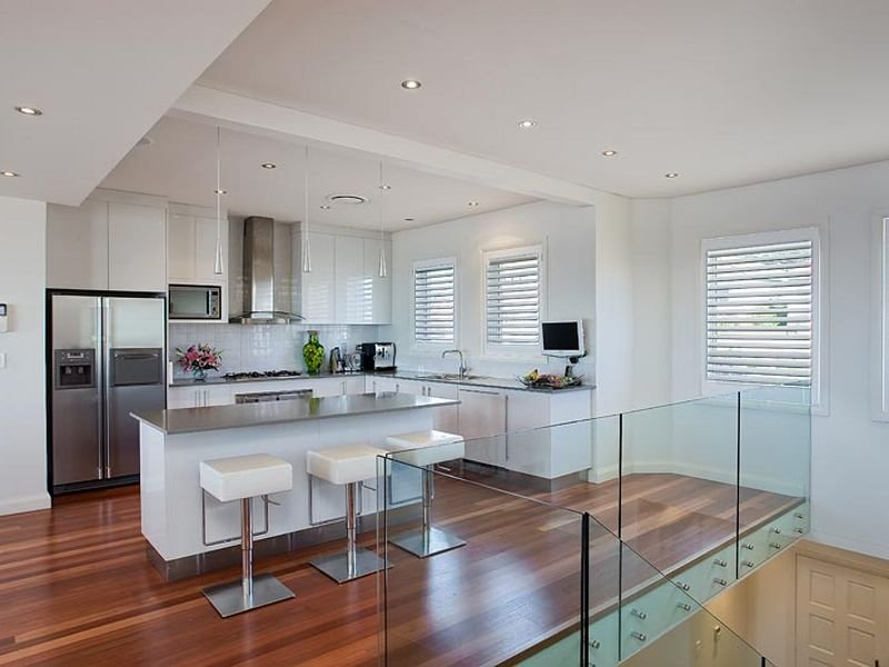 Modern L Shaped Kitchen Design Using Stainless Steel Kitchen Photo 212700