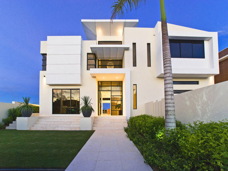 Photo of a tiles house exterior from real australian home for New home facade design