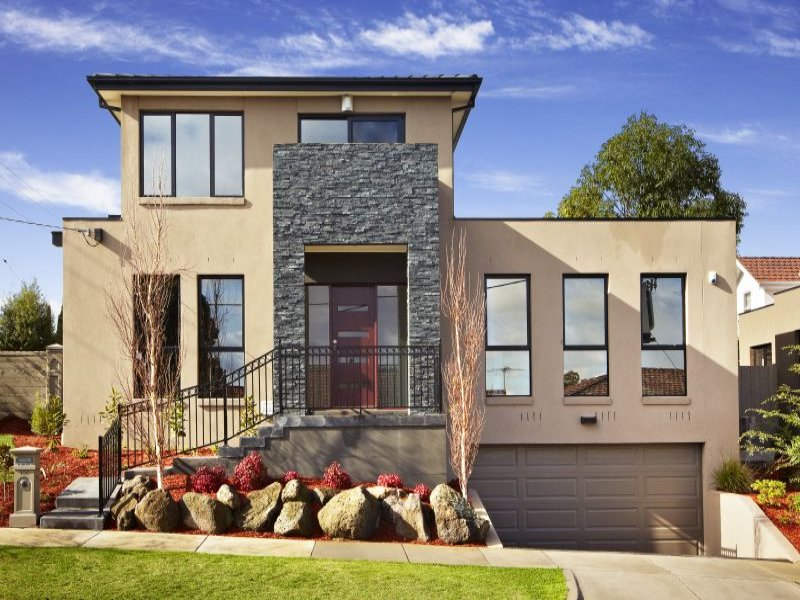 Photo of a stone house exterior from real australian home for Exterior house facades