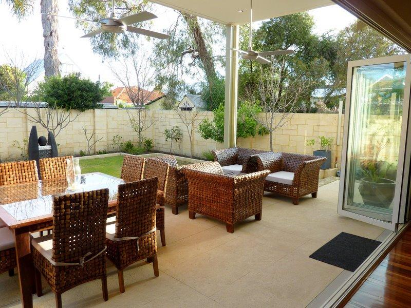outdoor outdoor living design with bbq area & decorative lighting ...