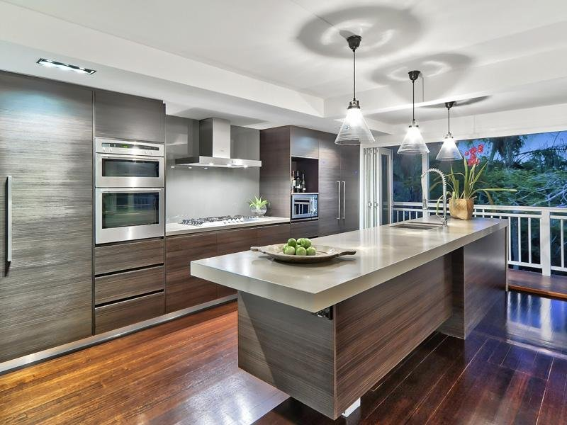 Floorboards in a kitchen design from an australian home for Modern kitchen design australia