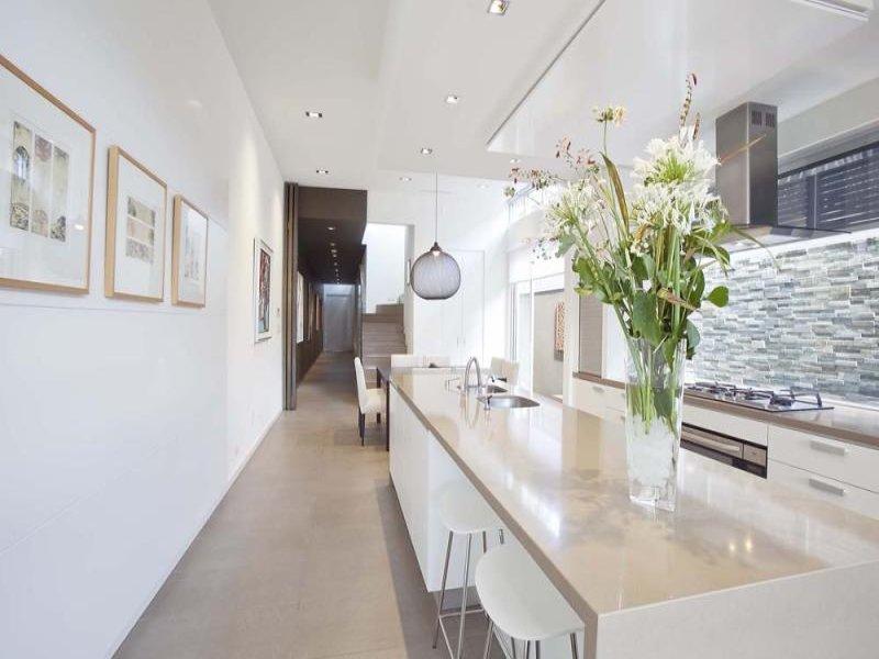 Modern island kitchen design using marble - Kitchen Photo 383954