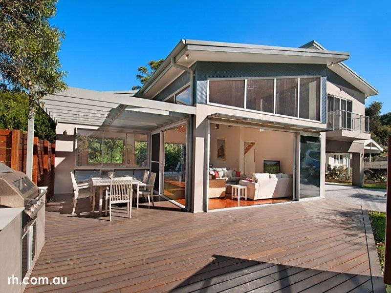 Photo of an outdoor living design from a real australian house - Indoor Outdoor Outdoor Living Design With Bbq Area