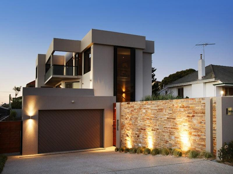 Photo of a concrete house exterior from real australian for Arquitectura mexicana moderna