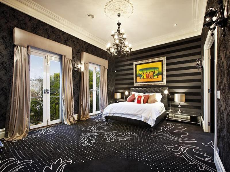 modern bedroom design idea with carpet french doors using white colours bedroom photo 375214. Black Bedroom Furniture Sets. Home Design Ideas