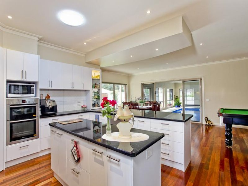 Classic Galley Kitchen Design Using Hardwood Kitchen
