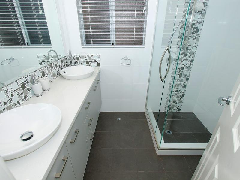 classic bathroom design with twin basins using ceramic 25 best ideas about bathroom feature wall on pinterest
