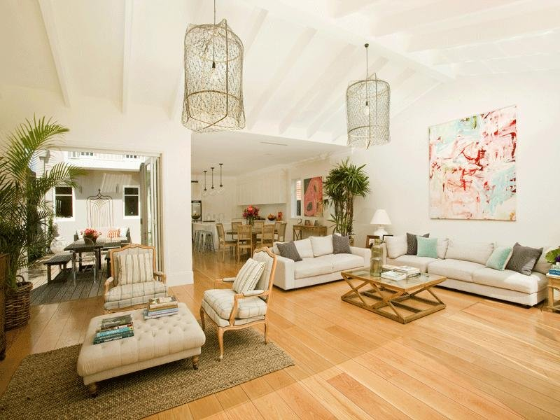 White living room idea from a real australian home for Living area ideas