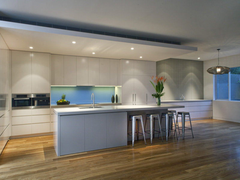 Modern Kitchen dining Kitchen Design Using Floorboards