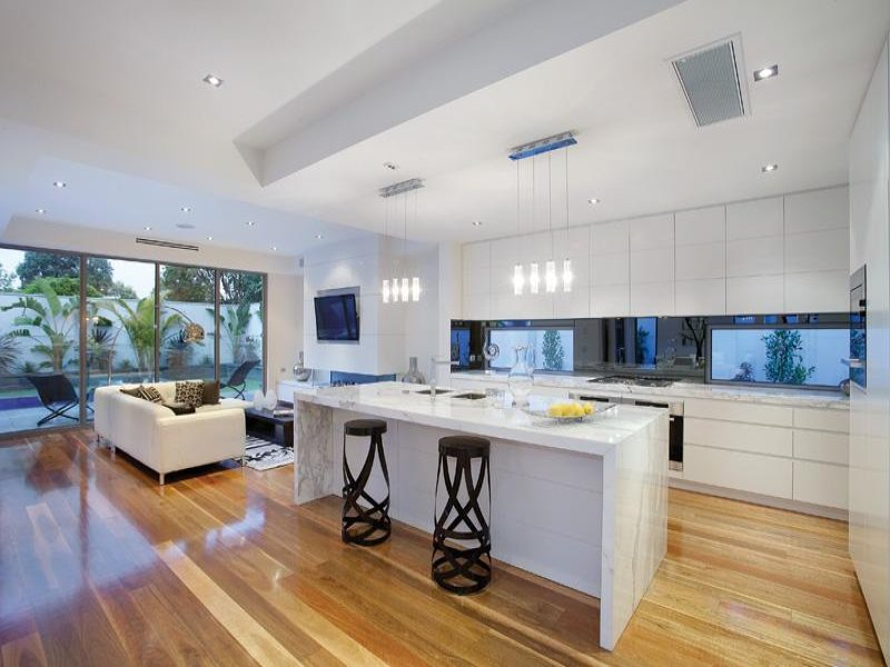 Floorboards In A Kitchen Design From An Australian Home Kitchen Photo 585631