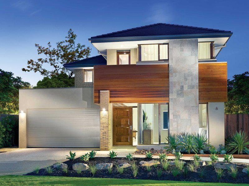 concrete modern house exterior with balcony feature lighting house