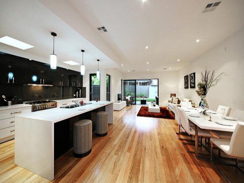 classic island kitchen design using floorboards kitchen photo 644747