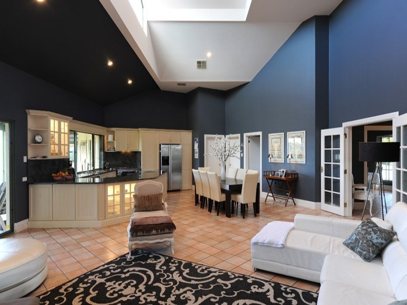 Blue living room idea from a real australian home living for Australian home interior designs
