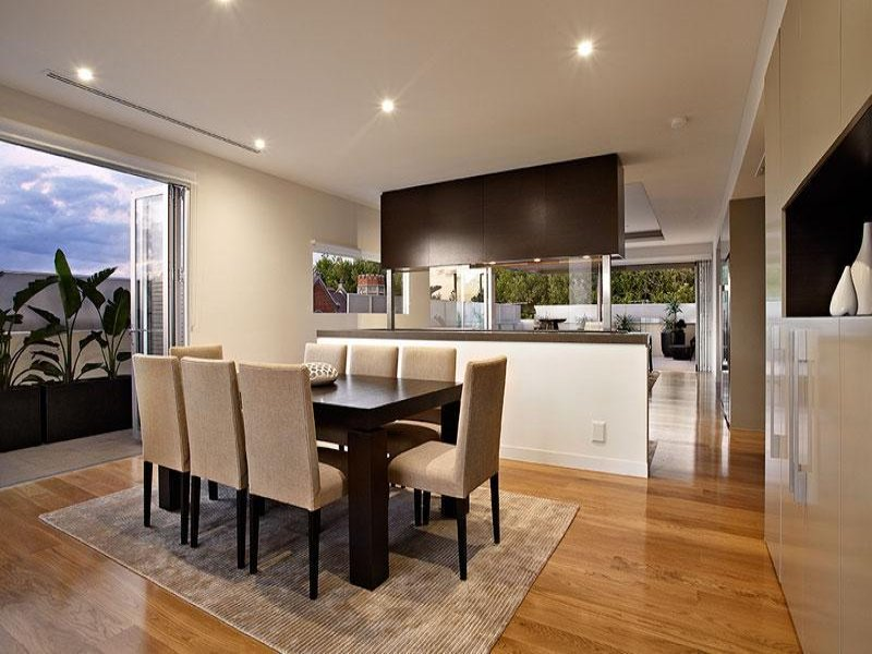 Beige dining room idea from a real australian home for Dining area ideas