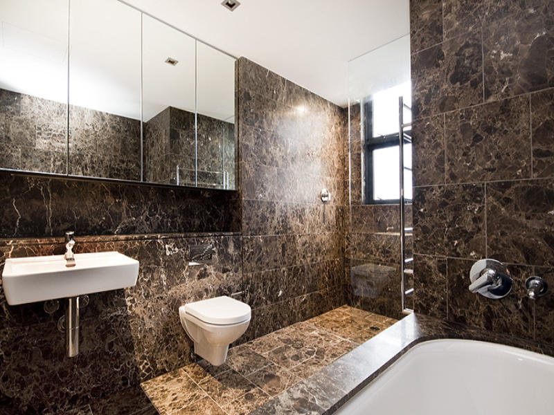 Modern Bathroom Design With Recessed Bath Using Granite Bathroom Photo 756430