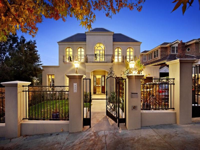 Country House Facade Design House Exterior With French Doors Decorative Lighting House Facade