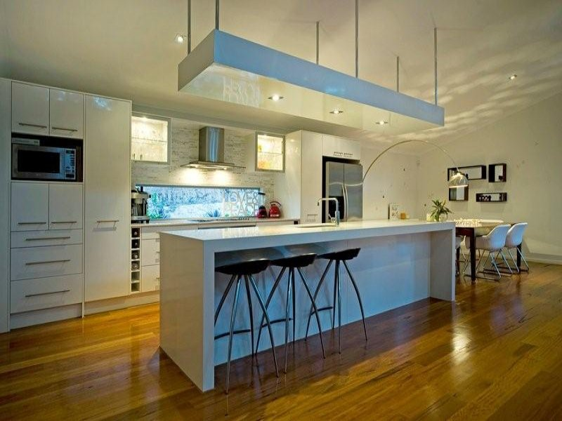 Modern Island Kitchen Designs island kitchen design using hardwood - kitchen photo 399460