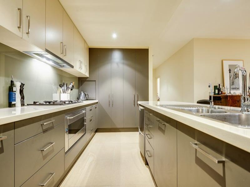 modern galley kitchen design using granite kitchen photo 1404538
