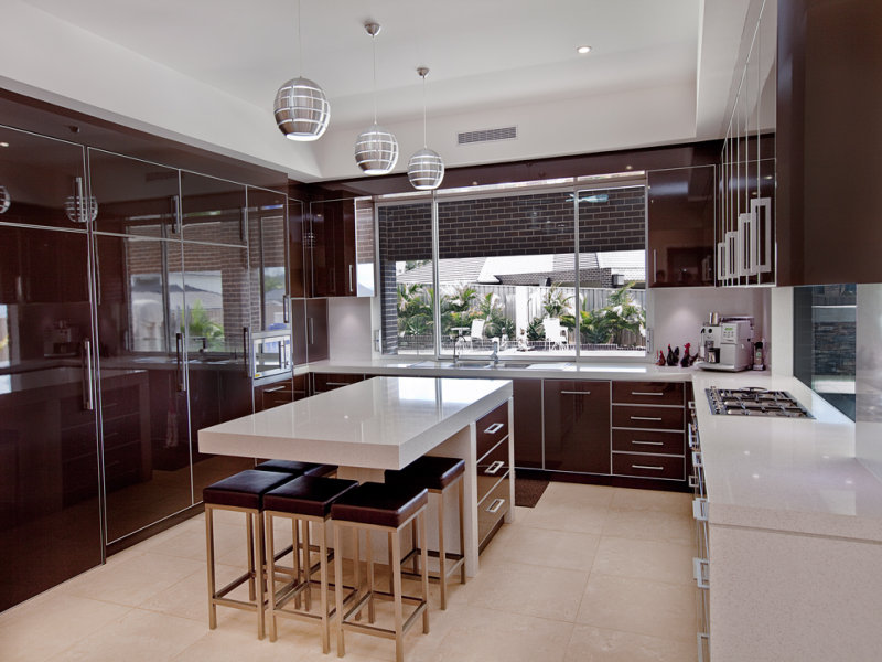 Modern Island Kitchen Design Using Tiles Kitchen Photo 1218672
