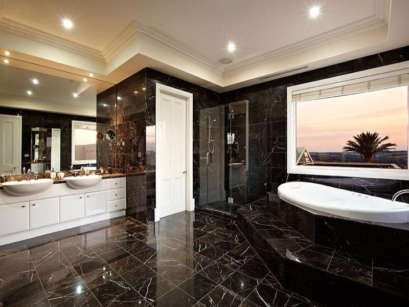 Modern Bathroom Design With Twin Basins Using Granite Bathroom Photo 332496