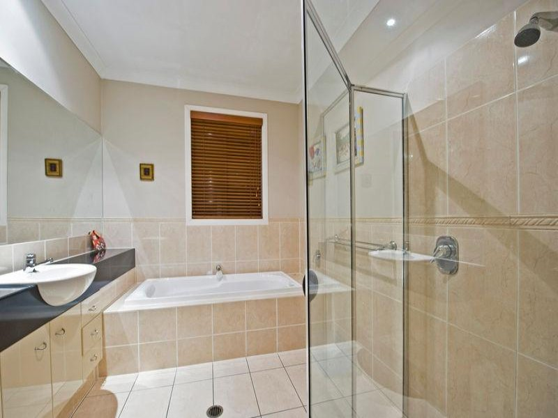 Glass shelves for bathrooms - With Built In Shelving Using Frameless Glass Bathroom Photo 1542422