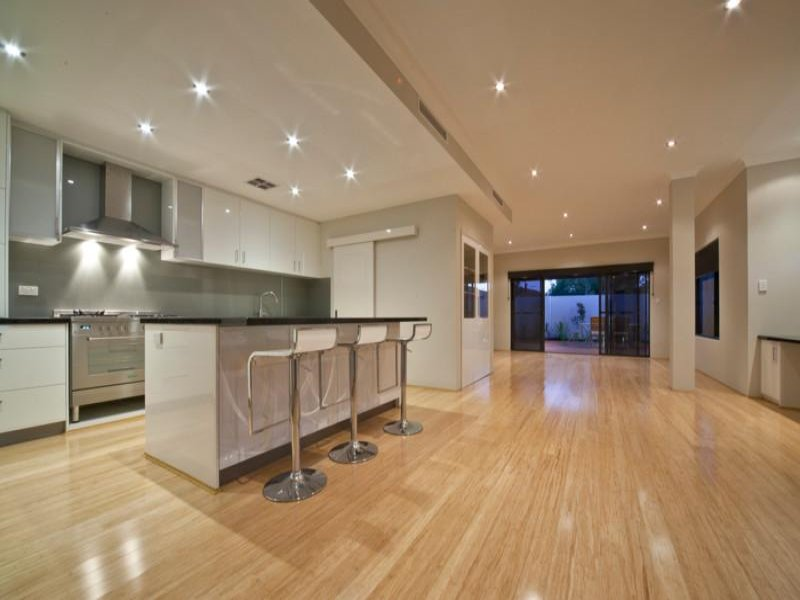 Do you like dropped ceilings bulkheads in the kitchen for Contemporary kitchen flooring ideas