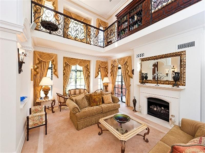 Gold living room idea from a real australian home living for Australian living room ideas