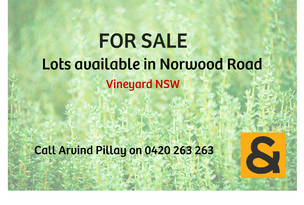 Lot 11-12, Norwood Road, Vineyard, NSW 2765