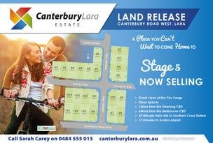 LOT 82 - LOT 104 Canterbury Road West ( Canterbury Lara Estate) Stage 5 - Canterbury Estate, Lara, Vic 3212