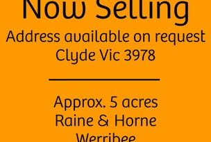 Clyde, address available on request