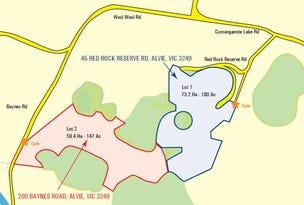 200 Baynes Road & 45 Red Rock Reserve Road, Alvie, Vic 3249