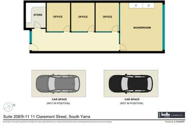 Suite 208/9-11 Claremont Street South Yarra VIC 3141 - Floor Plan 1