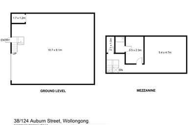 38/124 Auburn Street Wollongong NSW 2500 - Floor Plan 1