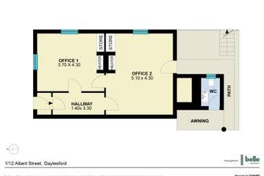 Suite 1, 12 Albert Street Daylesford VIC 3460 - Floor Plan 1