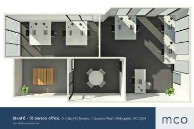 St Kilda Rd Towers, 1 Queens Road Melbourne VIC 3004 - Floor Plan 1