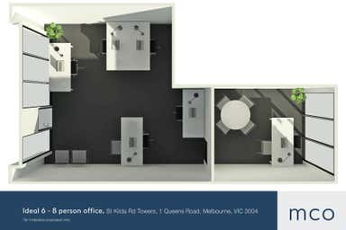 St Kilda Rd Towers, 1 Queens Road Melbourne VIC 3004 - Floor Plan 1