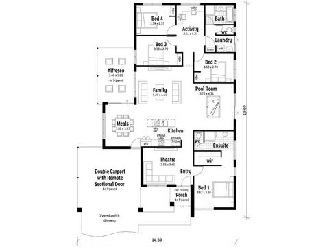 The Exhilaration - floorplan