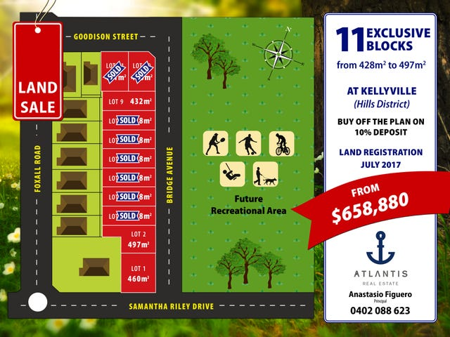 Lot , 37-49 Samantha Riley Drive, Kellyville, NSW 2155