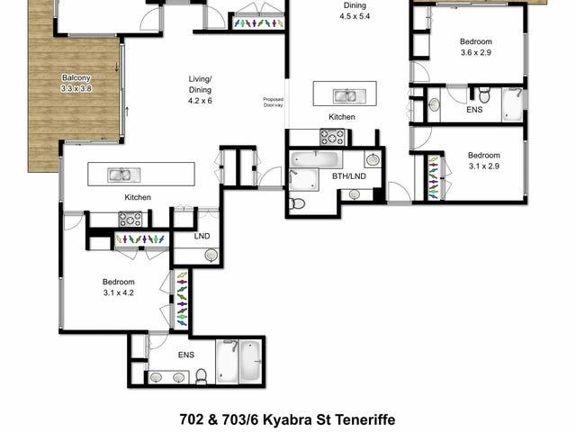 702/6 Kyabra, Newstead, Qld 4006