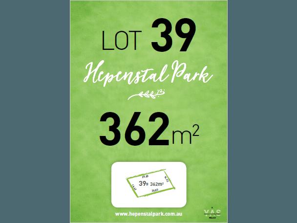 Lot 39, Hepenstal Park, Hackham, SA 5163