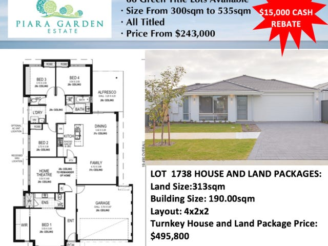Lot 1738, 6 Tuff Way, Piara Waters, WA 6112
