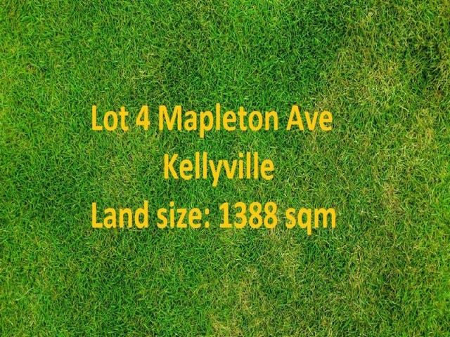 Lot 4, Mapleton Avenue, Kellyville, NSW 2155