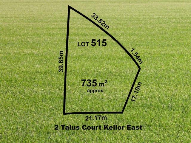Lot 515, 2 (Lot 515) Talus Court, Keilor East, Vic 3033