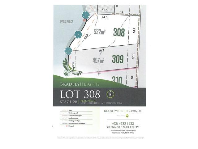 Lot 308, Peak Place (Bradley Heights), Glenmore Park, NSW 2745