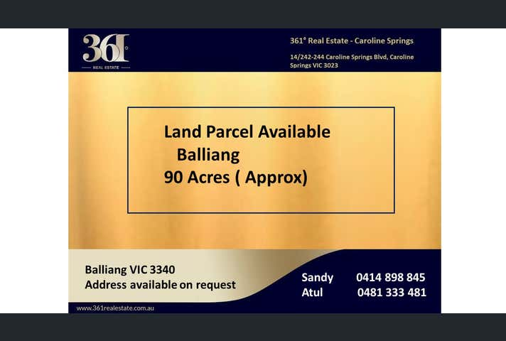 Balliang East, address available on request