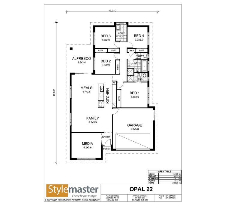 Opal Floor Plan