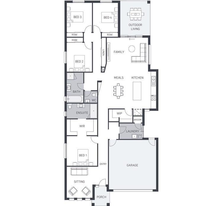 Aspendale 250 Floor Plan